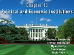 Chapter 13 Political and Economic Institutions