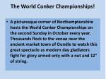 The World Conker Championships!