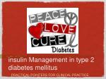 insulin Management in type 2 diabetes mellitus