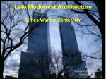 Late Modernist Architecture Times Warner Center, NY