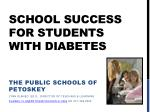 School Success for students with diabetes
