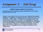 Assignment 2 - Add Drag!