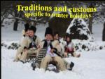 specific to winter holidays