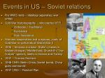 Events in US – Soviet relations