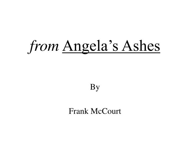 from angela s ashes n.