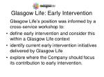 Glasgow Life: Early Intervention