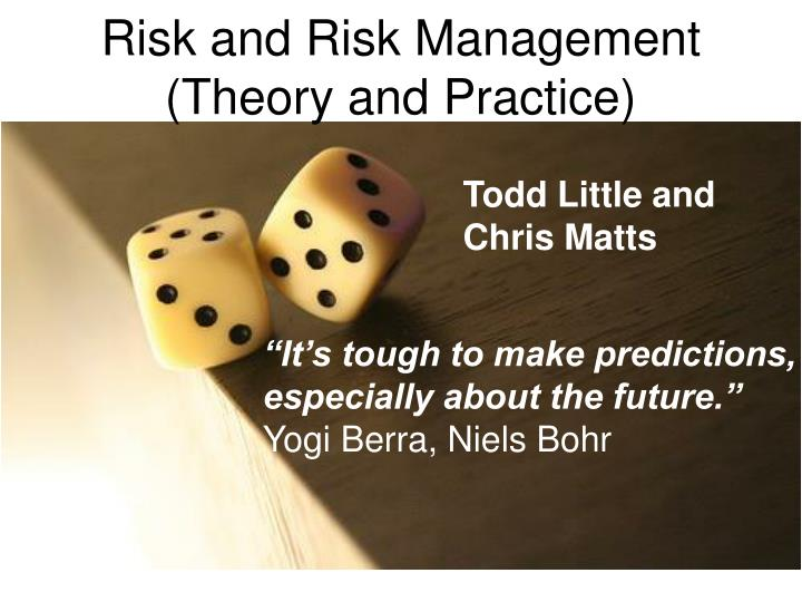 risk and risk management theory and practice n.