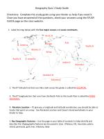 Geography Quiz 1 Study Guide