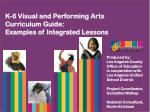 K-6 Visual and Performing Arts Curriculum Guide: Examples of Integrated Lessons